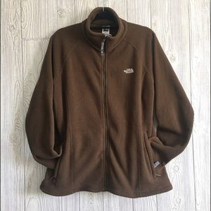 THE NORTH FACE Size XL Brown Fleece Women's Jacket